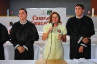 Juíza Francisca Galiza, auxiliar da CGJ, representou o corregedor-geral, Des. Marcelo Carvalho, na cerimônia.