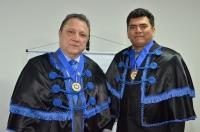 O desembargador Cleones Cunha e o presidente da Academia Ludovicense de Letras, Antonio Norberto. (Foto: Ribamar Pinheiro)