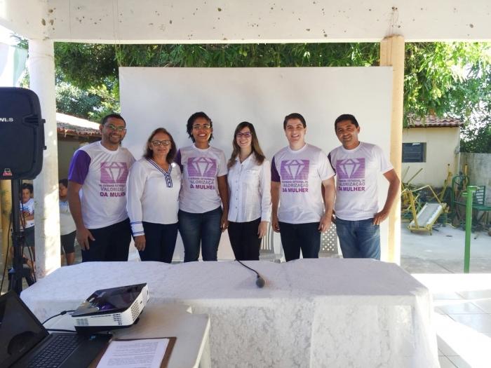 Equipe da comarca de Timon durante Semana de Valorização da Mulher