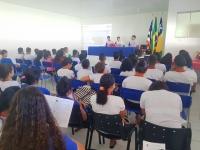 Estudantes participam de palestra na comarca de Cantanhede