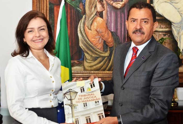 A solenidade de posse aconteceu no Gabinete da Presidência (Foto: Ribamar Pinheiro)