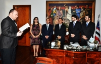 A cerimônia de posse ocorreu no Gabinete da Presidência do TJMA (Foto: Ribamar Pinheiro)