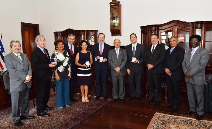 Juristas norte-americanos foram homenageados pelo Tribunal de Justiça do Maranhão (Foto: Ribamar Pinheiro)