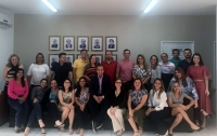 O juiz Holídice Barros ministrou a última disciplina do curso