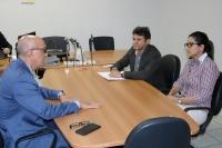 O corregedor-geral também reuniu-se com o presidente e a tesoureira da Ordem dos Advogados do Brasil (OAB-MA/Subseção Chapadinha), Audeson Oliveira Costa e Meuseana Almeida.