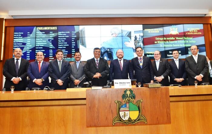 A solenidade contou com a presença de autoridades de todos os Poderes (Foto: Ribamar Pinheiro)