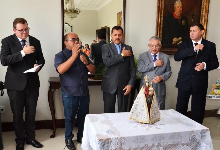 A visitação aconteceu no Salão Nobre do TJMA (Foto: Ribamar Pinheiro)