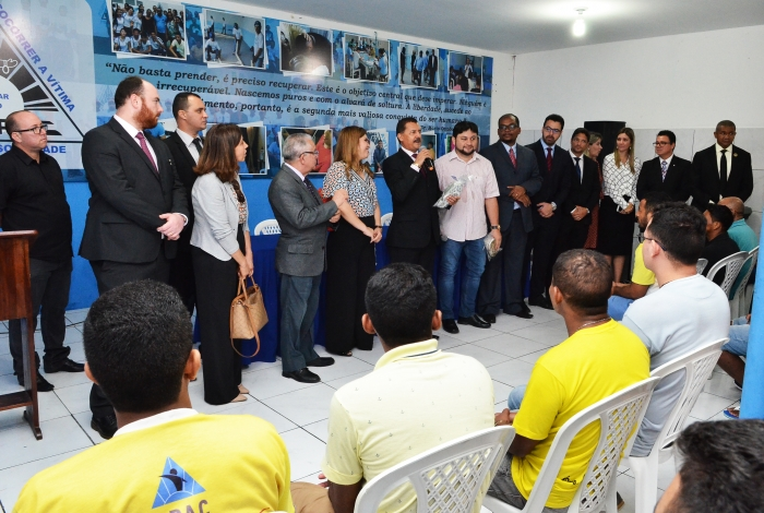 O presidente do TJMA, desembargador Joaquim Figueiredo disse que acredita no trabalho desenvolvido pela APAC e reconhece a sua importância (Foto: Ribamar Pinheiro)