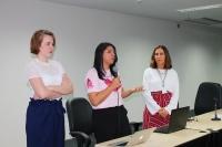 Palestra alertou servidoras do Fórum sobre prevenção ao câncer de mama (Fotos: Josy Lord/ASCOM)