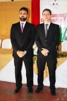 Juízes Duarte Henrique e João Vinicius durante cerimônia.