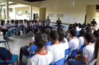 Cerca de 200 estudantes participaram da palestra