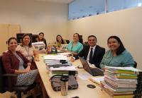 Juíza Josane Farias (de crachá) e equipe de juízes do mutirão