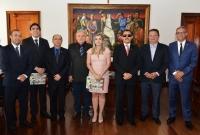 A solenidade de posse ocorreu no Gabinete da Presidência.(Foto: Ribamar Pinheiro)