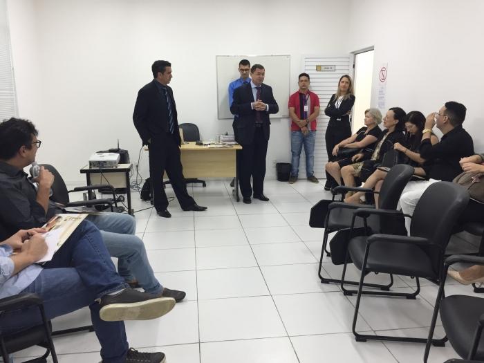 O desembargador José Jorge Figueiredo abriu as atividades e apresentou o juiz Douglas de Melo