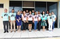 Servidores em frente ao Fórum de Rosário