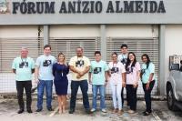 Servidores em frente ao Fórum de Humberto de Campos