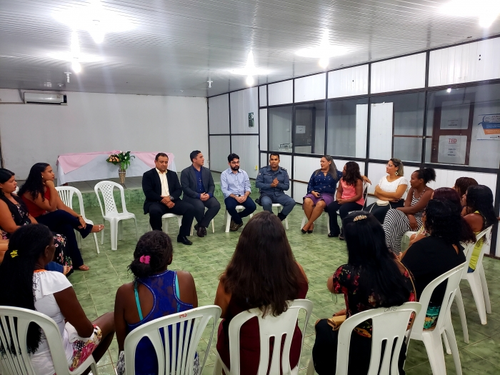 Roda de conversa reuniu mulheres e representantes do Sistema de Segurança de Cururupu.