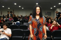 Mafoane Odara coordenou a oficina de Gênero e Interseccionalidades (Foto: Josy Lord)