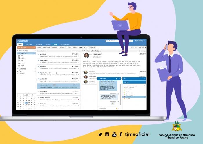 Nova solução do e-mail acompanha os avanços da tecnologia para facilitar a interação do usuário. Arte: Carlos Sales/ Asscom TJMA