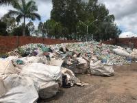 Lixo já coletado pelo projeto Teia de Sustentabilidade