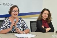 Professoras Rosângela Guimarães Rosa e Laiza Spagna (Foto: Ribamar Pinheiro)