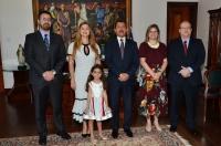 O presidente do TJMA, desembargador Joaquim Figueiredo, parabenizou as magistradas desejando sucesso na nova jornada profissional.(Foto: Ribamar Pinheiro)