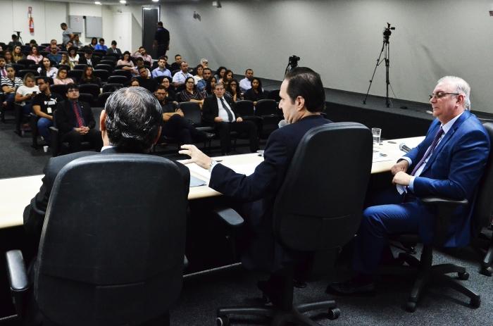 A palestra reuniu magistrados e servidores do TJMa, advogados e membros de órgãos do sisitema de justiça no Maranhão (Foto: Ribamar Pinheiro)