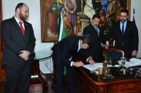 A solenidade de posse ocorreu no gabinete da Presidência. (FOTO: Ribamar Pinheiro)