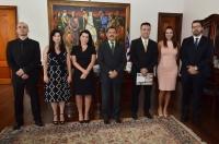 Juízes foram titularizados pelo presidente do TJMA, desembargador Joaquim Figueiredo (Foto: Ribamar Pinheiro)