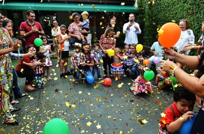 A festa junina reuniu os filhos de servidores, familiares e equipe da creche. (Foto: Ribamar Pinheiro)