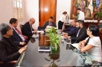 O Termo de Cooperação foi assinado no Gabinete da Presidência do TJMA (Foto: Ribamar Pinheiro)