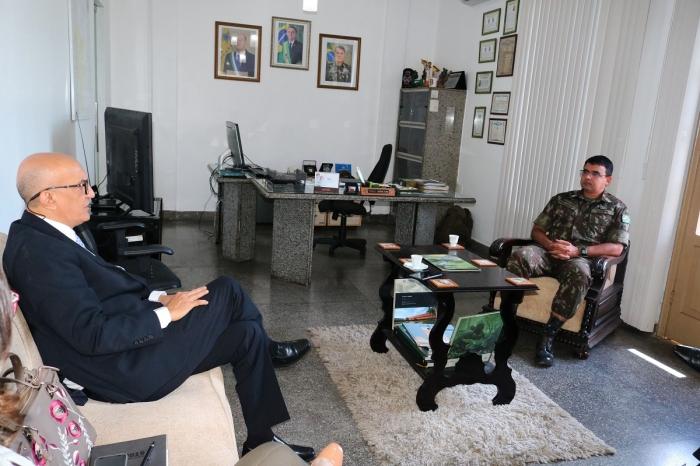 Corregedor-geral reuniu-se com comandante do Exército nesta terça-feira, 16 (Fotos: Josy Lord)