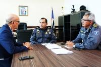 Reunião com comandante e sub-chefe de Estado Maior da PMMA (Fotos: Josy Lord)