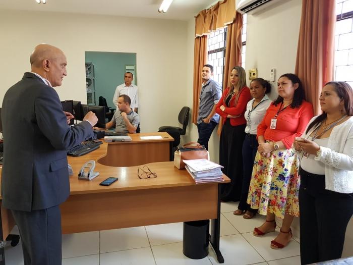 Corregedor reuniu-se com servidores e magistrada de São Luiz Gonzaga na última sexta-feira, 2