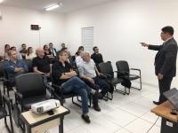 O formador Maurício Viegas Pinto ministrou o módulo de Inteligência no Poder Judiciário