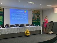 Juíza Tereza Palhares em evento em Pinheiro