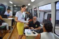 Os cidadãos foram consultados sobre os serviços e a atuação da Justiça no local, registrando sugestões, reclamações e elogios