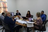 Corregedor acompanha mutirão de sentenças na 4ª Vara Criminal de Santa Inês