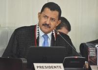 O desembartgador Joaquim Figueiredo disse que a sua gestão valoriza os servidores (Foto: Ribamar Pinheiro)