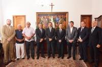 A visita ocorreu no gabinete da presidência (Foto: Ribamar Pinheiro)
