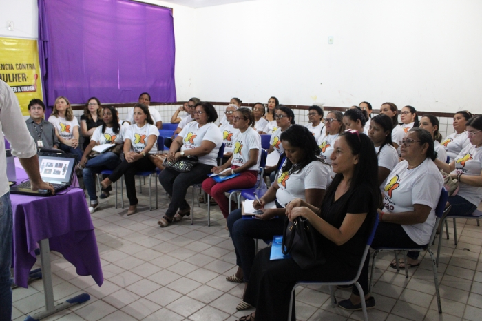 """Aula inaugural do Projeto """"Marias em Ação"""" teve início na Escola Emésio Dário Araújo (Foto: Orquídea Santos)"""