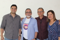 Desembargador José Luiz Almeida se reuniu com juízes e prefeito do município