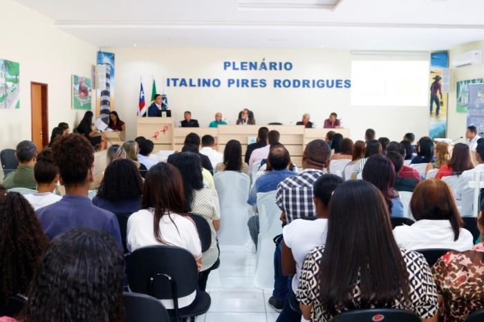 Magistrado Douglas Lima da Guia realizou audiência pública para prestação de contas na Câmara Municipal de Cururupu. (Fotos: Comarca de Cururupu).