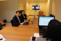 Advogados durante audiência de conciliação por videoconferência