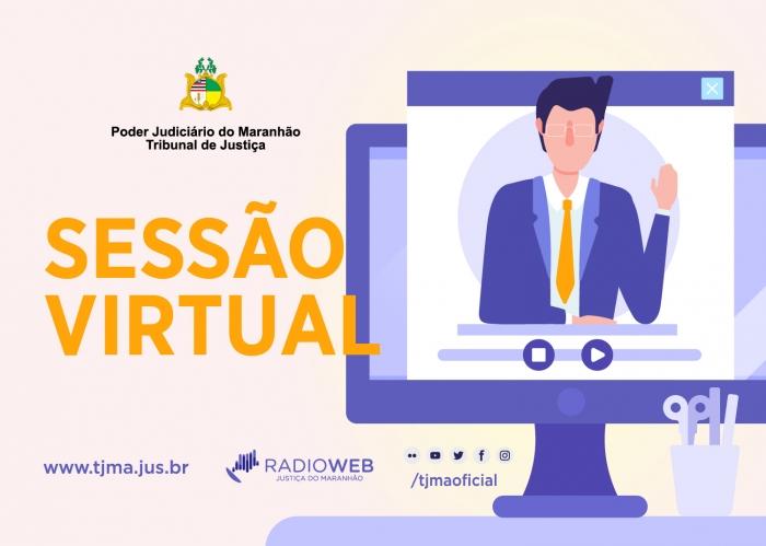 Os desembargadores podem realizar a sessão virtual por trabalho remoto, sem necessidade de presença no TJMA (Arte: Eduardo Sales)